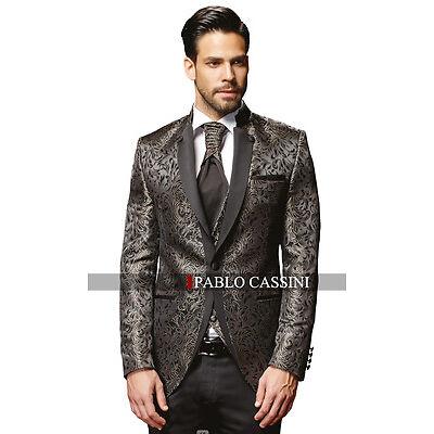 PABLO CASSINI Designer Herren Anzug Schwarz Champagne Hochzeitsanzug NEU PC_19