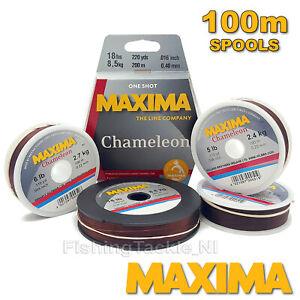 Maxima-Chameleon-Ligne-de-peche-Bobines-de-100-m-Hi-de-traction-Monofilament-2-LB-environ-0-91-kg-30