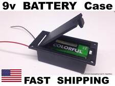 1x UNIVERSAL Guitar Parts - 9v 9 volt BATTERY Case Holder with lid cover
