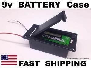 active guitar bass pickups 9v battery holder case box or custom mount 9 volt ebay. Black Bedroom Furniture Sets. Home Design Ideas