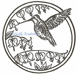 Hummingbird /& Flower Wood Mounted Rubber Stamp Northwoods Rubber Stamp New