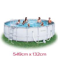 Heavy Duty Bestway Steel Pro Frame Above Ground Swimming Pool 18ft 56232 547cm