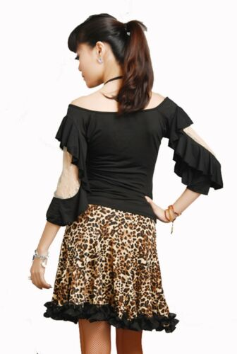 New Women Ballroom Smooth Latin Tango Salsa Dance Blouse Top SGT15BK S-XL