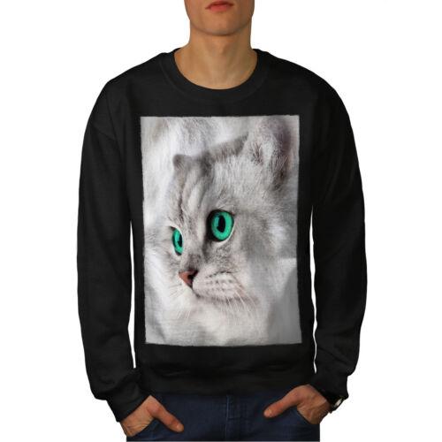hombres lindo peludo gato negro sudadera nuevo gatito Mascota 5tqIU