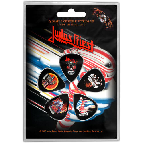Judas Priest Turbo Pack Of Five Plectrum Pack Guitar Official Rock