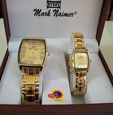 Mark Naimer  his and her boxed elegant designer style watch set good for gift