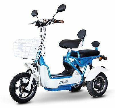 NEW EWheels EW-27 Crossover Scooter, Up to 15 MPH & 350 lb, Light Blue/ White