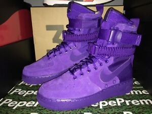 e7f29de66d93a8 Nike Men s SPECIAL FIELD AIR FORCE 1 COURT PURPLE Shoes 864024-500 ...