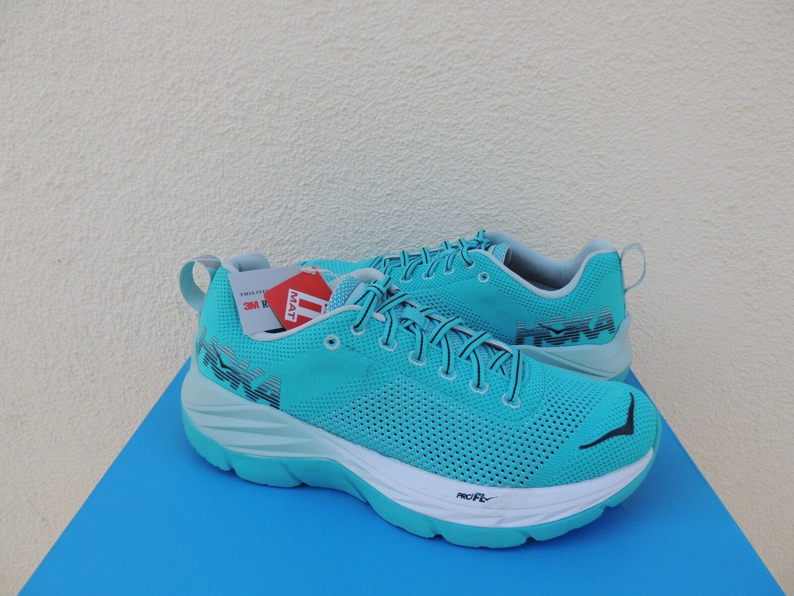 Hoka One One Mach Bluebird/Blanco zapatos  para mujer correr, de mujer para EE. UU. 7.5/39 1/3 euros  Nuevo 63f047