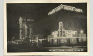 PALACE-CLUB-RENO-NEVADA-POSTCARD-B-amp-W-PHOTO-1940-039-s-GREYCRAFT-PHOTO-R172