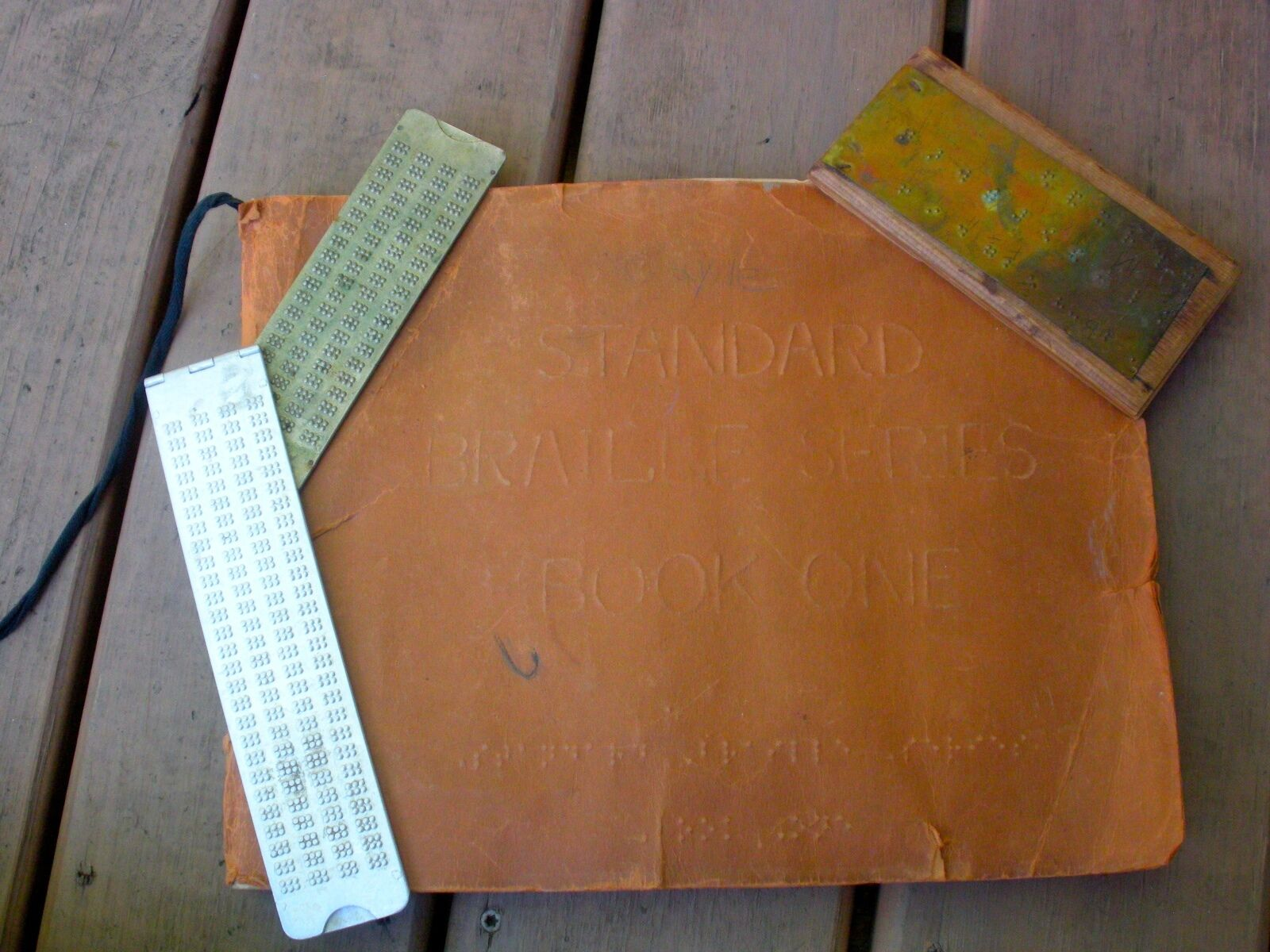 1940's-50's BRAILE Workbook & Tools -Standard Braile Series  1