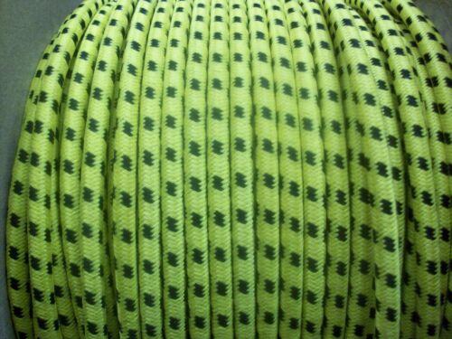 Cable Ignición 7MM Ht Núcleo De Cobre Trenzada De Algodón Negro sobre Amarillo 1 metros