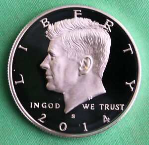 2014-S-Proof-SILVER-Kennedy-Half-Dollar-Coin-50-Cent-JFK-from-US-Mint-Proof-Set