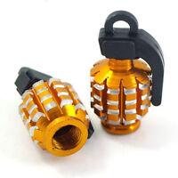 New Grenade Alloy Dust Caps Cycle Motor-Bike Bicycle MTB BMX Car Tyre Valve