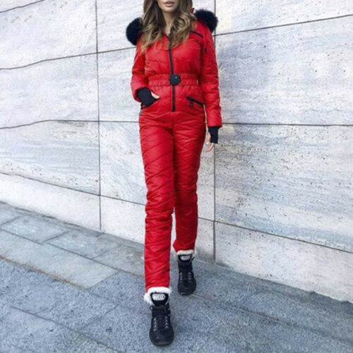 Damen Skijacke Ski Overall Schneeanzug Winterjacke Warm Gefüttert Snowboardjacke