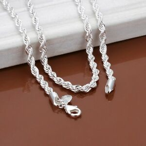 925-Sterling-Silver-Women-039-s-Opulent-Large-Rope-Chain-20-034-Necklace-GiftPg-D141R