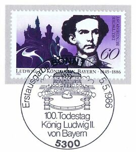 Frg-1986-King-Ludwig-Ii-By-Bavaria-No-1281-With-Bonner-Special-Postmark-1A