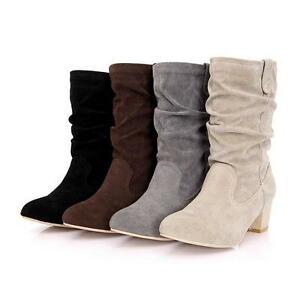 suede slouch boots with heel