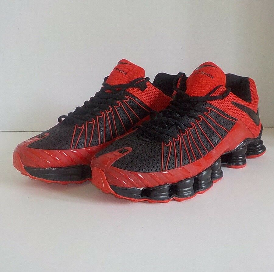 Nike SHOX NZ TLX Running Shoes BLACK RED Uomo Size 12