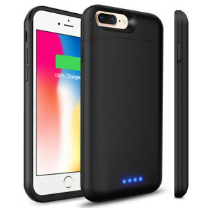 new product 82f0e 4fb02 Details about For Apple iPhone 6 Plus 8500mAh External Backup Charging  Battery Pack Case Cover