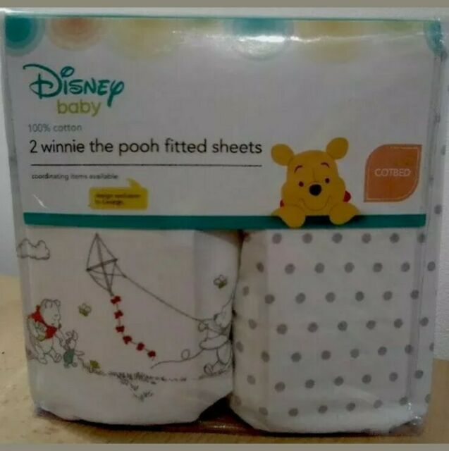 BabyPrem 84 x 43cm Pack of 2 Fitted Crib Sheets Cradle Nursery Bedding