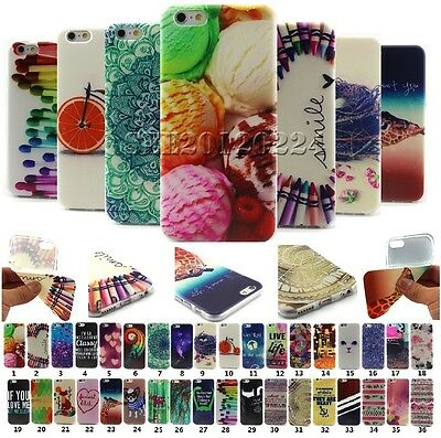 Colorful Painted Pattern Soft TPU Rubber Back Case Cover Skin For Apple iPhone