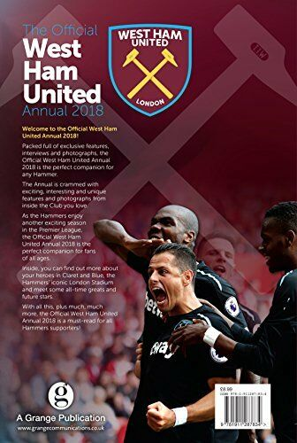 The Official West Ham United Annual 2018 (Annuals 2018),Grange Communications