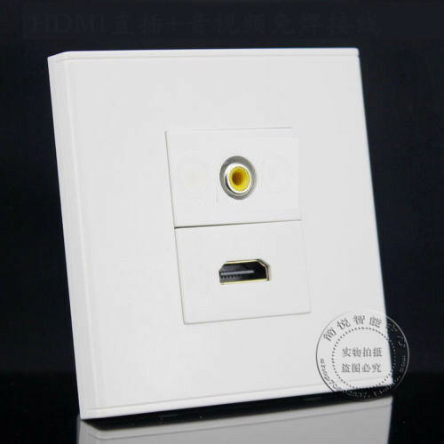 2 Ports Yellow AV Audio /& HDMI Plate Assorted Panel Socket Outlet Faceplate