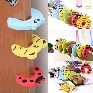 6X-Baby-Safety-Foam-Door-Jammer-Guard-Finger-Protector-Stoppers-Animal-MWUK-ep