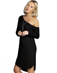 Pull Nu De Femme Maxy Mélange Noir Dos Robe Costume Manches Longues wq41E