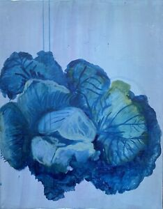 Brigitte-tietze-berlin-oil-painting-still-curled-kale-cabbage-expressiver