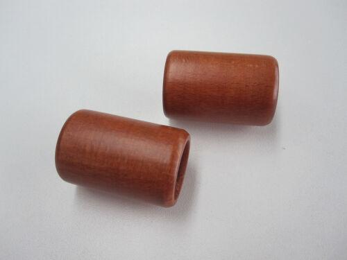 Endstück ZYLINDER aus Holz für Gardinenstangen und Rohre Ø 20 mm 2 Stück