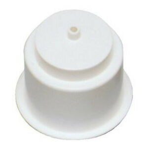 Recessed Mount White Plastic Drink Holder for Boats - Fits 3-3/4 Inch Hole