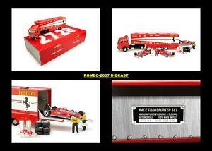1:43 Brum Fiat 170 Ferrari 126ck Monaco 1981 Villeneuve Pironi Set de Transporteur