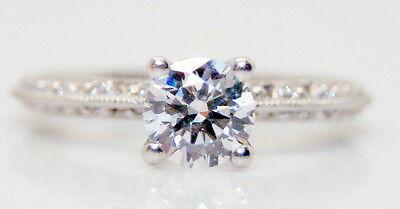 Tacori Platinum .40TCW Diamond Engagement Ring Mounting for a 1 Carat Stone