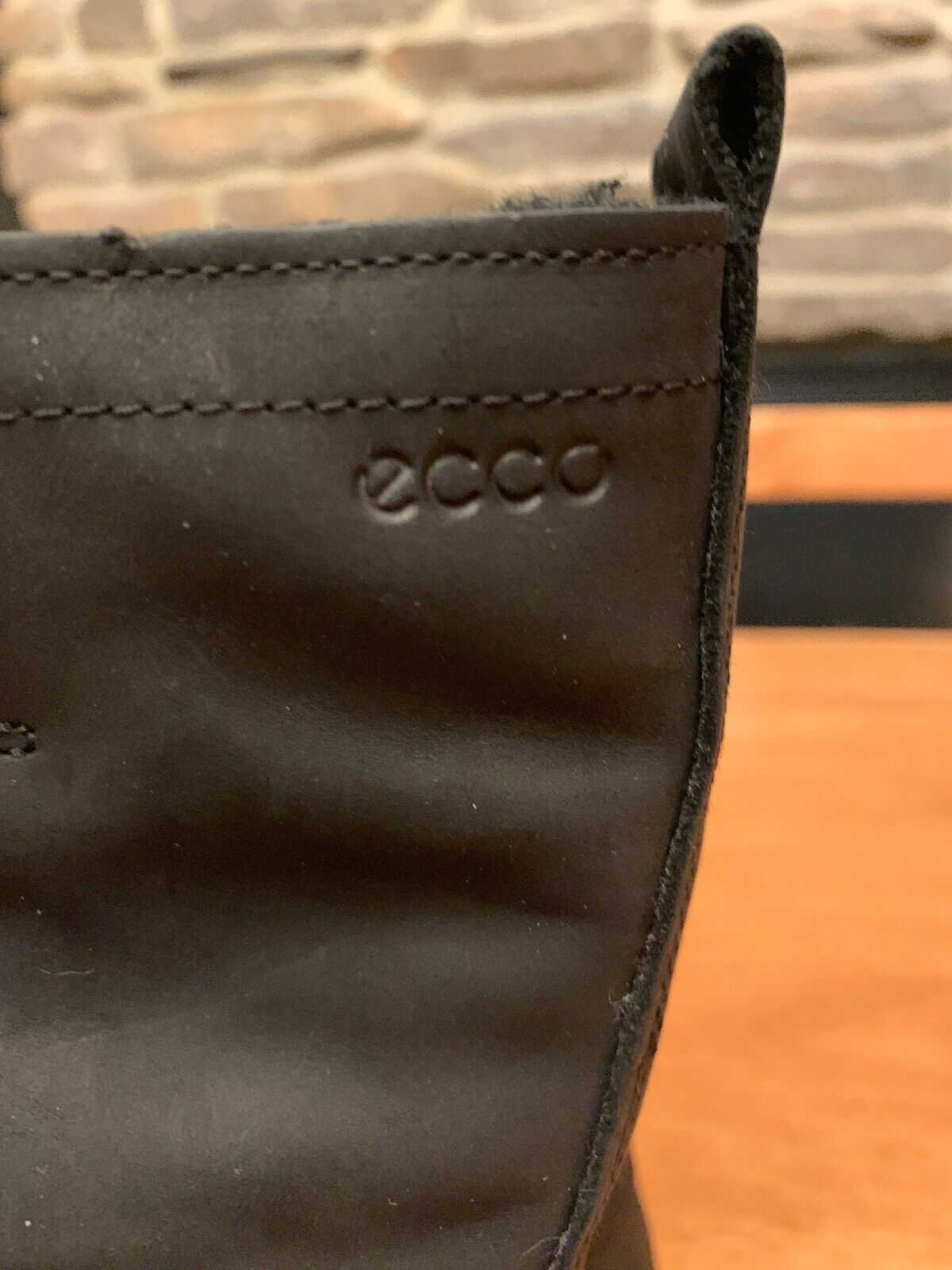 ECCO Elaine Black Leather Leather Leather Boots W  Strap, Buckle & Wool Lining Size 4   4.5 7924fe