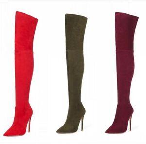 stivali tacco sexy a Cosplay di alto donna sopra ginocchio tacco al da gli scarpe spillo FKcJT1l