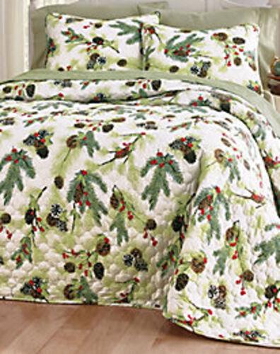 Queen Size Yuletide Reversible Bedspread Set NWT