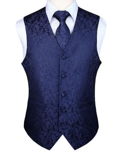 Fashion Vest Gilet Pocket Wedding Abito Set Plaid uomo Square Tie Paisley da npUCq7B