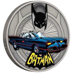 Niue-2-Dollar-2021-DC-Comics-1966-Batmobil-1-1-Oz-Silber-Antik-Finish