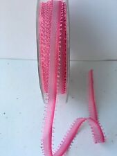 May Arts DA17-5 Yards Pink 3//16 Inch String Looped Ribbon