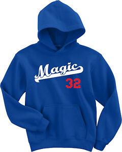 "Los Angeles Dodgers Magic Johnson ""Magic"" jersey Hooded SWEATSHIRT HOODIE"