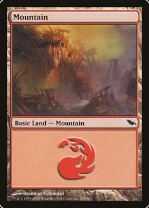 20x Shadowmoor MOUNTAIN #295 Same Art Basic Land NM/LP MTG Magic the Gathering