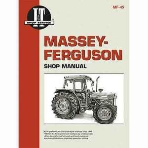 I/&T Shop Manual for Massey Ferguson MF362 MF365 MF375 MF383 MF390 MF390T MF398