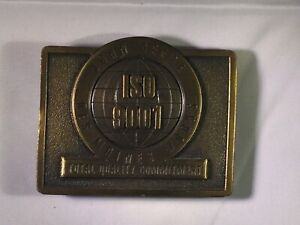 Vintage-1994-John-Deere-Des-Moines-Works-ISO-9001-Advertising-Belt-Buckle