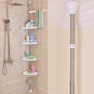 Tremendous Details About Bathroom Corner Rack Shower Shelf Stand 4 Tier Adjustable Height Bath Organiser Download Free Architecture Designs Scobabritishbridgeorg