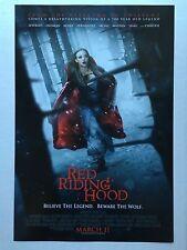 RED RIDING HOOD MOVIE PROMO POSTER 11 x 17 AMANDA SEYFRIED