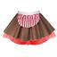 GIRLS CANDY CANE Costume Gingerbread Man CHRISTMAS Skirt Dance Fancy Dress UK