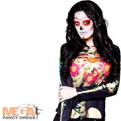 Costruttivo Giorno Dei Morti Scheletro Top Donna Costume Adulti Halloween Costume Acc-mostra Il Titolo Originale Una Grande Varietà Di Modelli