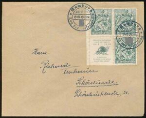 Sudetenland-Beleg-RUMBURG-22-9-38-CSR-Nr-393-Viererblock-mit-Zierfeld-67809
